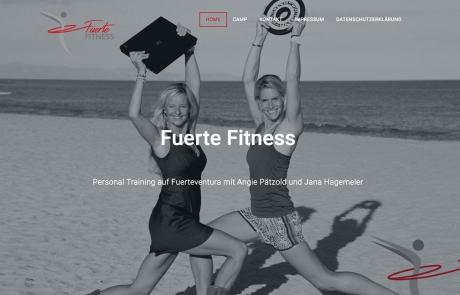 Fuerte Fitness Webseite