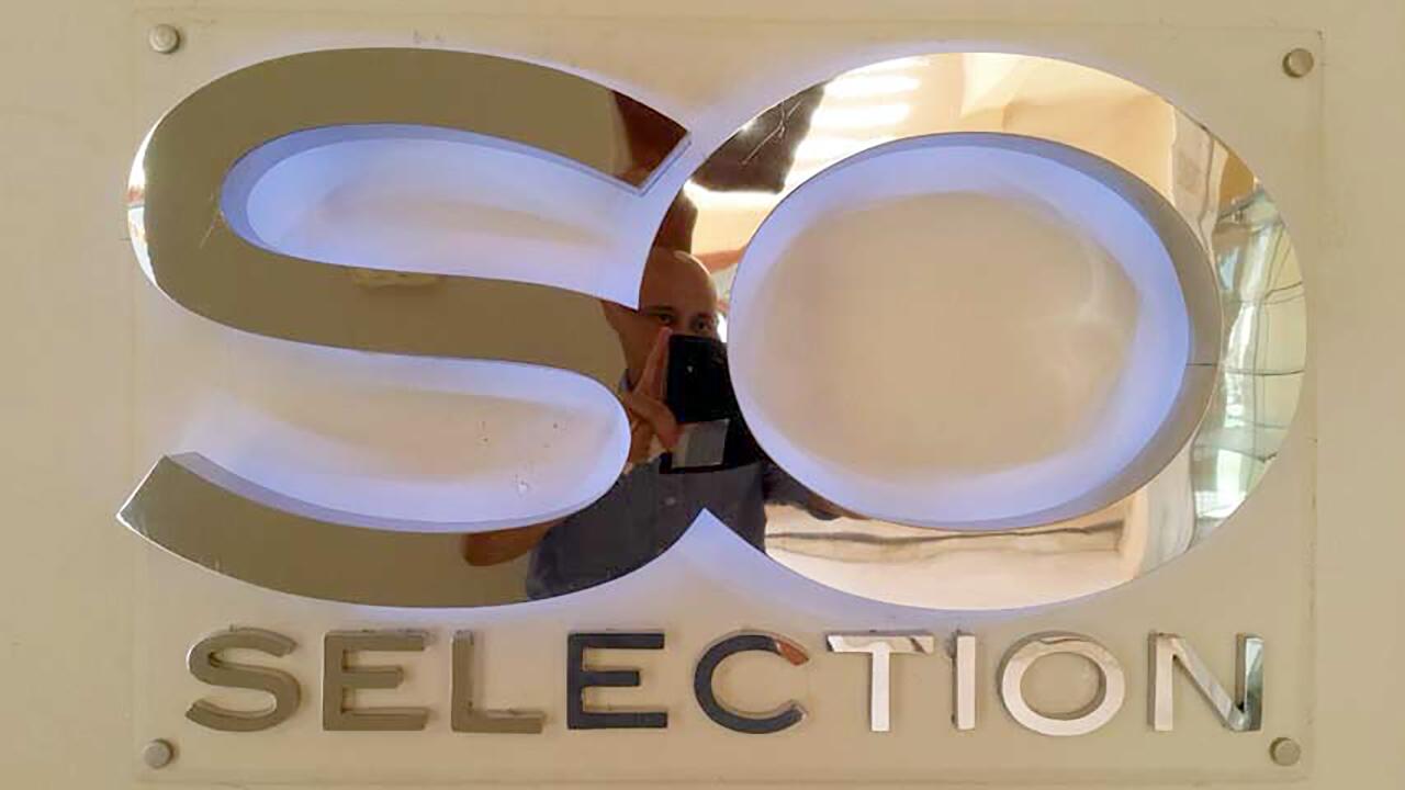 SO selection Logo im Geschäft