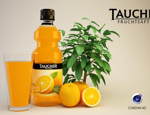 Taucher Orangensaftflasche
