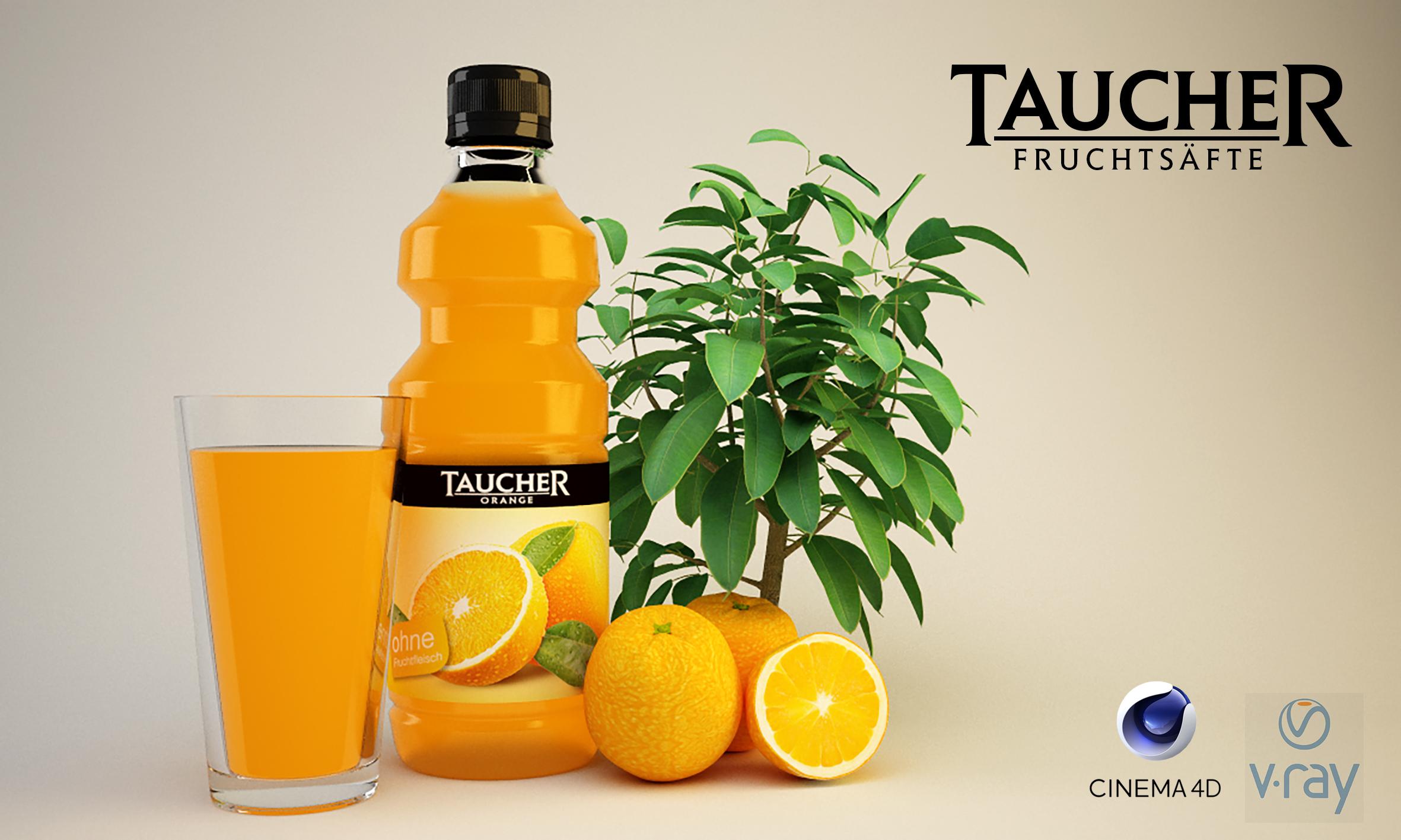 Orangensaft von Taucher - 3D Model