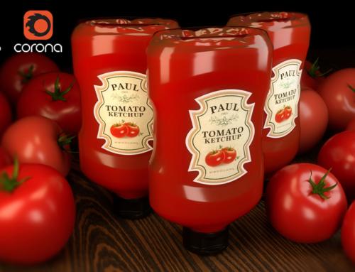 Ketchupflasche von PAUL-3D Model